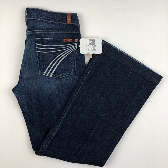 7 for all Mankind Denim - 7 for all mankind Dojo Jean Flare Trouser 30x30